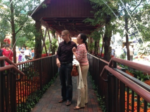 My co-pilot Craig and his girlfriend Kathleen at Bellagio.
