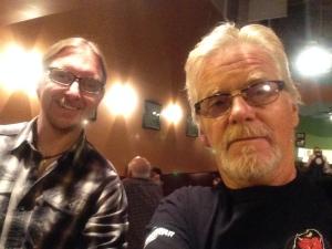"Craig and I at ""Zazzle"" in Petaluma."