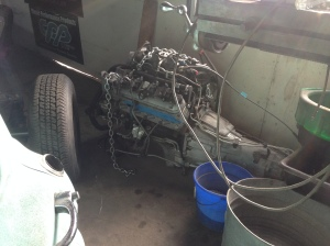 Amidst all this tradition, a REAL hot rod engine.  LS Chevy truck engine.