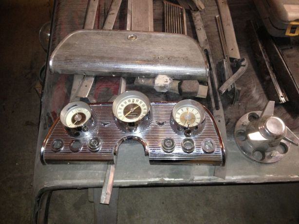 Original dash cluster and glove box door.