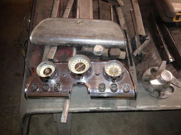 Original dash cluster and glove box door.