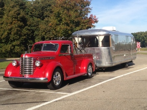 On the road to Milford and the Tin Can Tourists Fall Gathering, late in September.