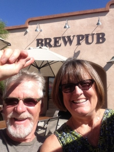 Of course, we found a brewpub, this one in Boulder City,  a favorite of ours when we're out there.