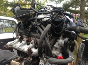The Rivieras new power plant!  5.3 LS and 4L60.