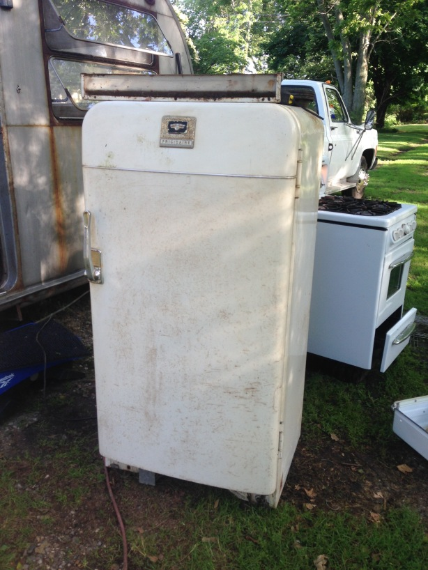 Frigidaire fridge by GM to be converted RV gas/electric unit.